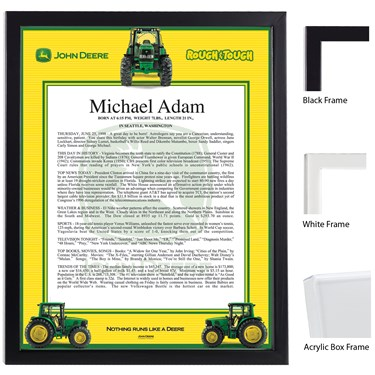 John Deere Keepsake Scroll