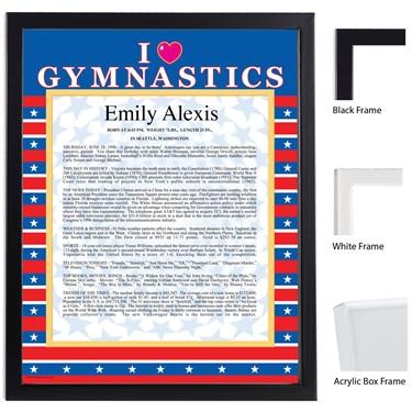 Gymnastics Keepsake Scroll