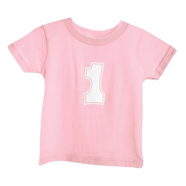 Girl's Big One Pink T-Shirt (Size 18M)