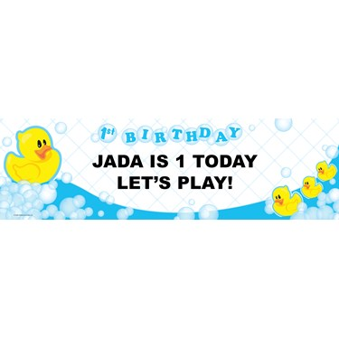 Just Ducky 1st Personalized Birthday Banner