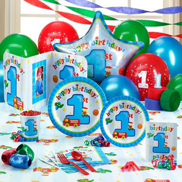 Boy's Playtime 1st Birthday Party Supplies