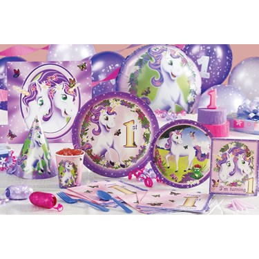 Fairy-Tale Unicorns 1st Birthday Party Supplies