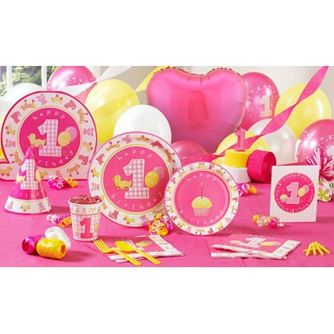 Girl's Little 1 Party Supplies