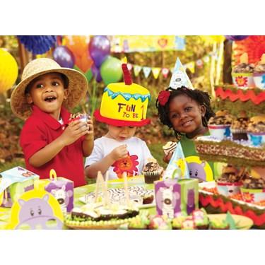Safari Friends 1st Birthday Party Packs