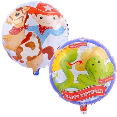 Cowboy Foil Balloon