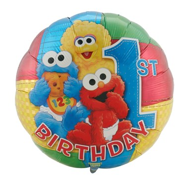 Sesame Beginnings 1st Birthday Foil Balloon