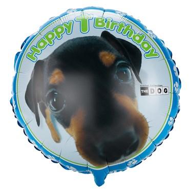 THE DOG 1st Birthday Foil Balloon
