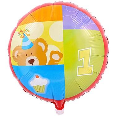 Birthday Bears 1st Foil Balloon