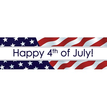 Happy 4th of July Banner (STD)
