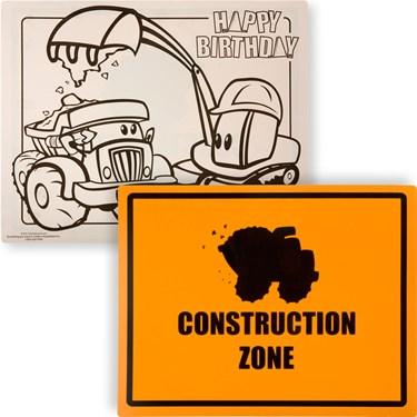 Construction Pals Activity Placemats