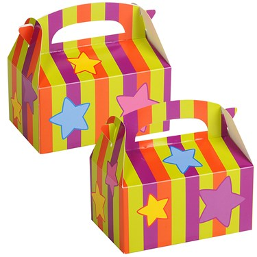 Stripes and Big Stars Empty Favor Boxes