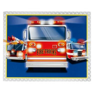 Fire Trucks Activity Placemats