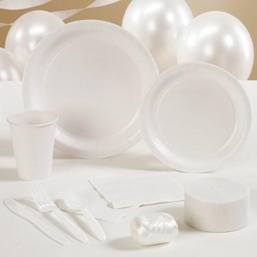 Bright White (White) Party Supplies
