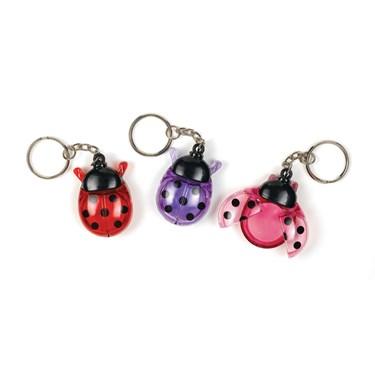 Ladybug Lip Gloss Keychain