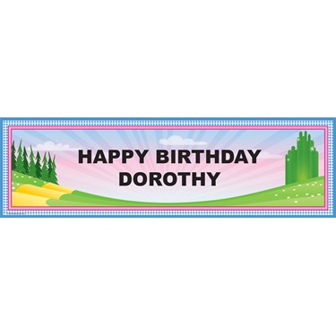 Emerald Sparkle Personalized Birthday Banner