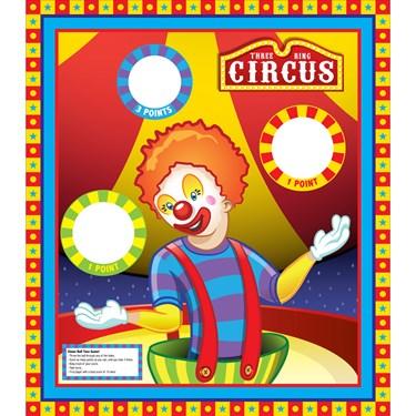 Clown Ball Toss Game Standup