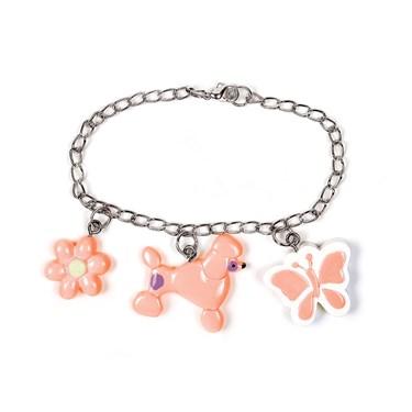 Pink Poodle Charm Bracelet