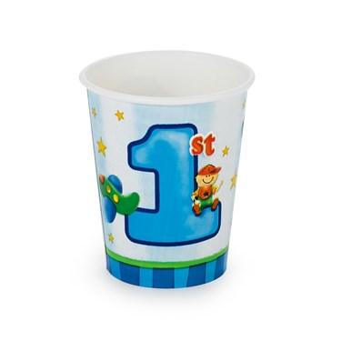 Boy's Playtime 1st Birthday 9 oz. Cups