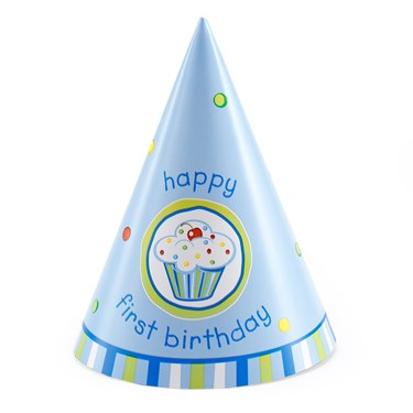 Cone Hat - Boy's Cupcake 1st