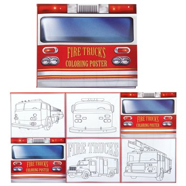 Fire Trucks Coloring Posters