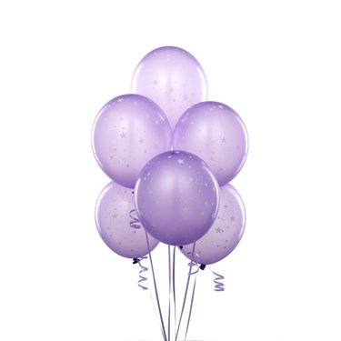 Lavender with Stars Balloons