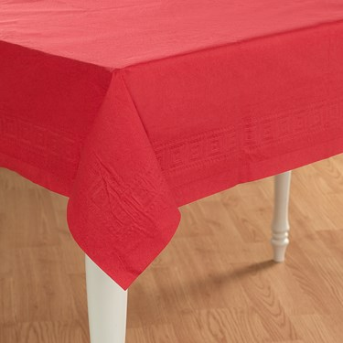 Classic Red (Red) Paper Tablecover