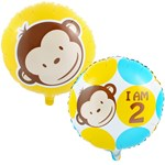 Mod Monkey 2nd Birthday Foil Balloon