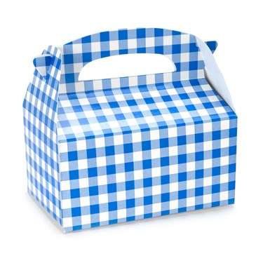 Blue Gingham Empty Favor Boxes
