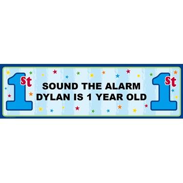 Boy's 1st Birthday Personalized Banner