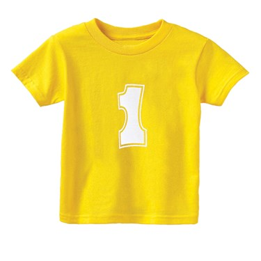 #1 Yellow T-Shirt