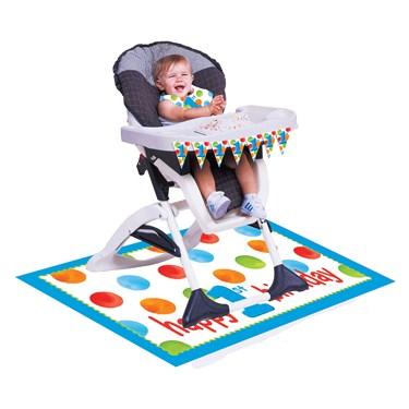 Big 1 Dots Boy High Chair Kit