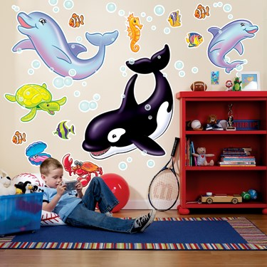 Sea Life Giant Wall Decals