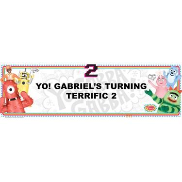 Yo Gabba Gabba! Personalized Vinyl Banner