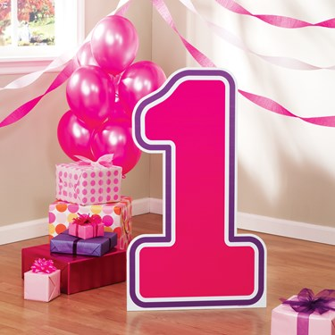 #1 Pink Birthday Standup