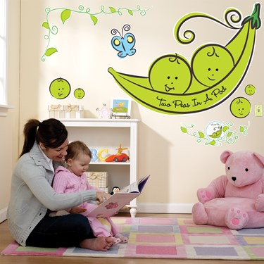 Two Peas in a Pod Giant Wall Decals