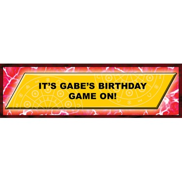 Battle Game Personalized Birthday Banner