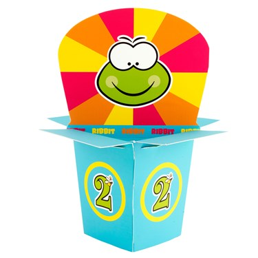 Froggie Fun 2nd Birthday Centerpiece