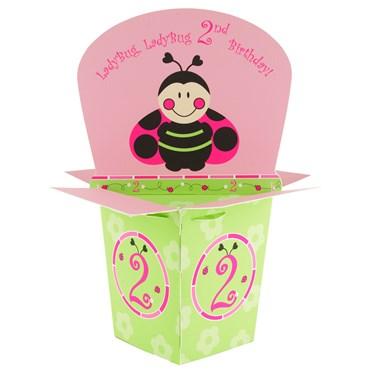 Ladybugs: Oh So Sweet 2nd Birthday Centerpiece