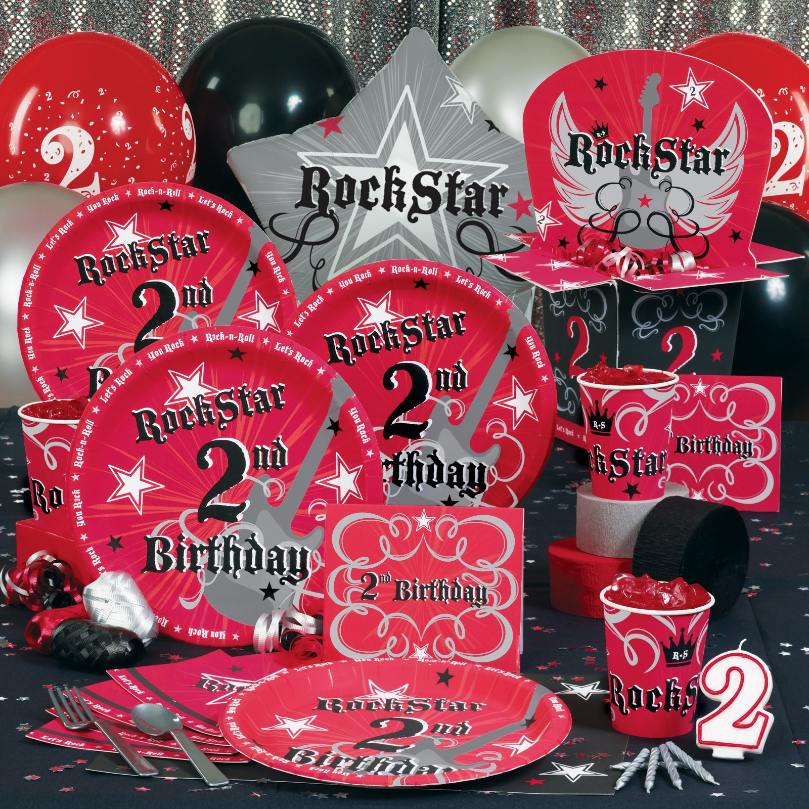 Rock star 2nd birthday party supplies for 2nd birthday party decoration