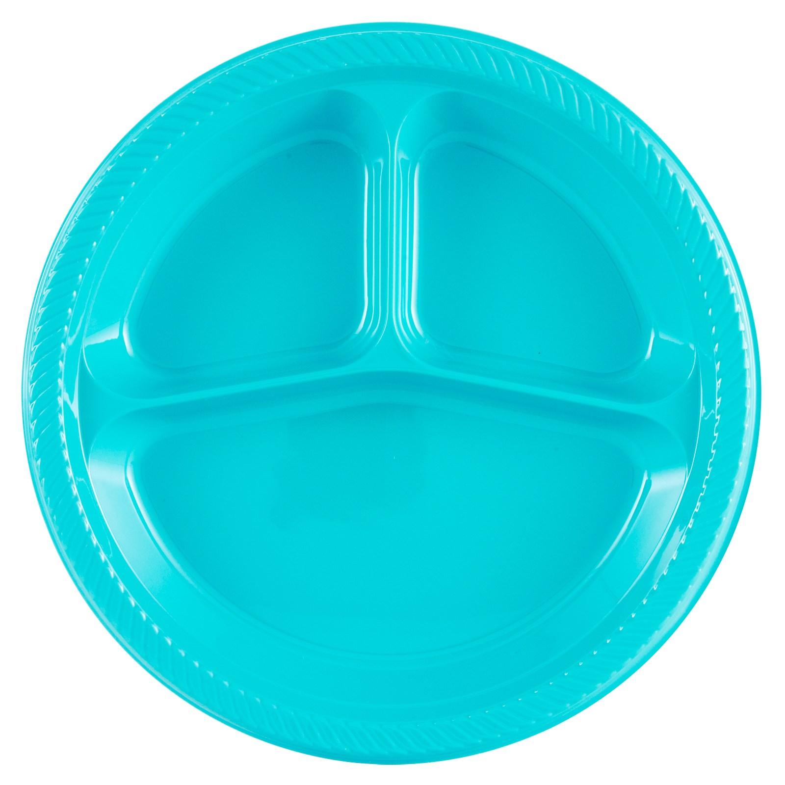 turquoise plastic divided dinner plates. Black Bedroom Furniture Sets. Home Design Ideas