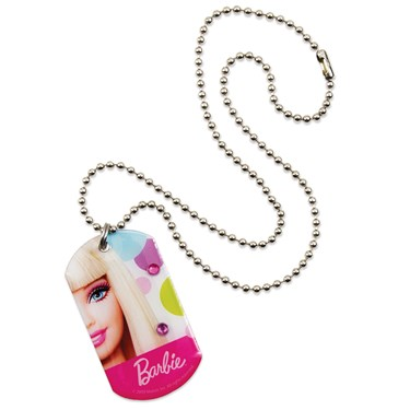 Barbie All Doll'd Up Dog Tag Necklace