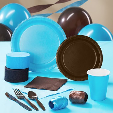 Brown & Turquoise Party Supplies