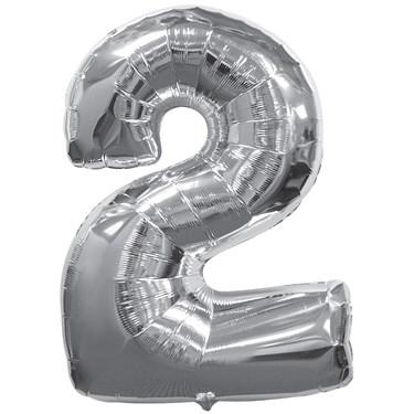 Silver #2 Jumbo Foil Balloon
