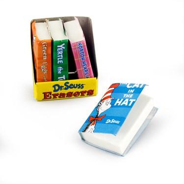 Dr. Seuss Book- Shaped Eraser Asst.
