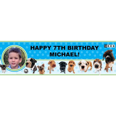THE DOG Personalized Photo Banner