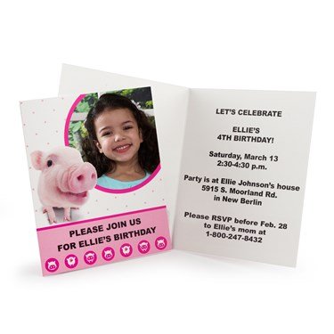 THE PIG Personalized Invitations