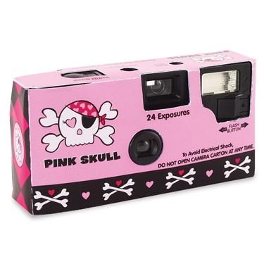 Pink Skull Message Camera