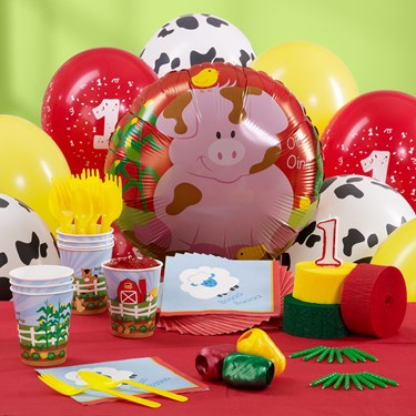 Barnyard 1st Birthday Personalized Party Theme