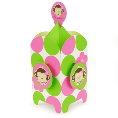 Pink Mod Monkey Centerpiece