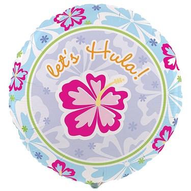 Hawaiian Girl Foil Balloon